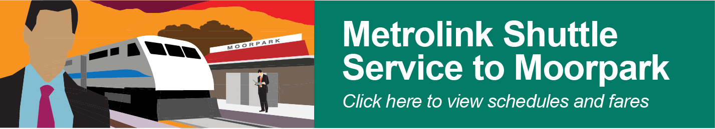Metrolink Commuter Shuttle Time Schedule Banner Image