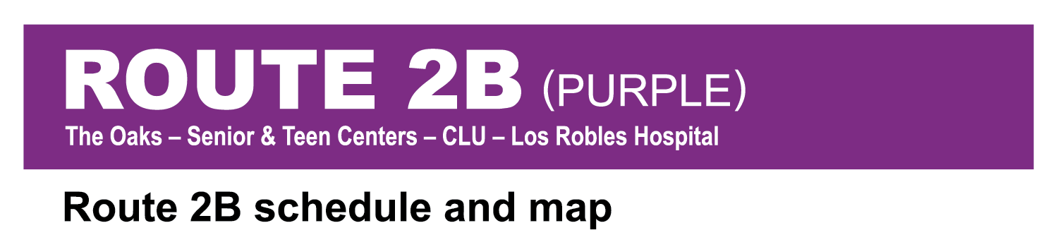 Thousand Oaks Transit Route 2B Purple system map cover image
