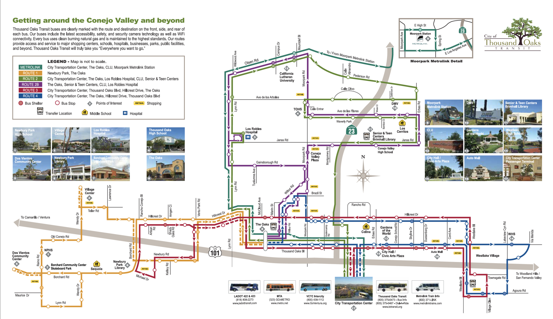 Thousand Oaks Transit System Map Cover Image