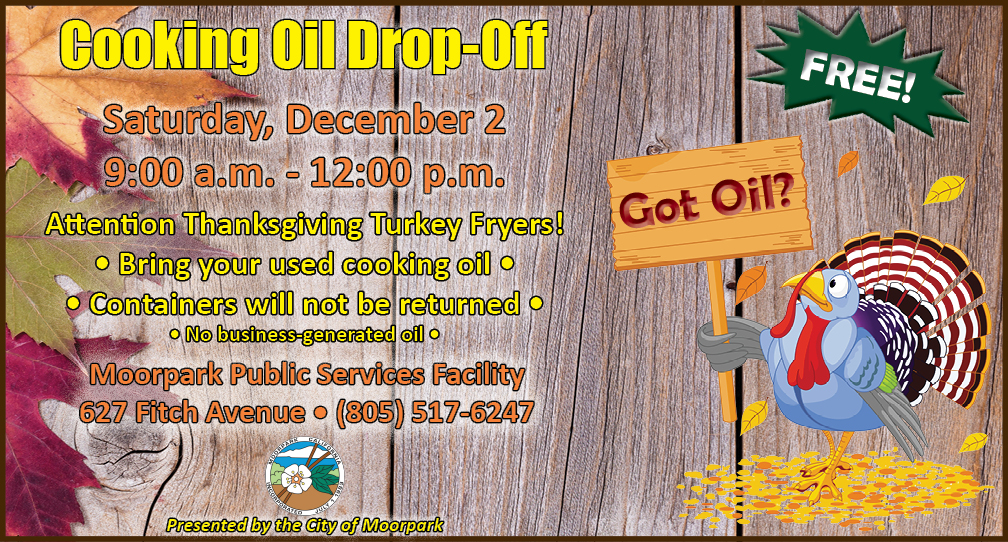Cooking Oil moorpark event flier 2017