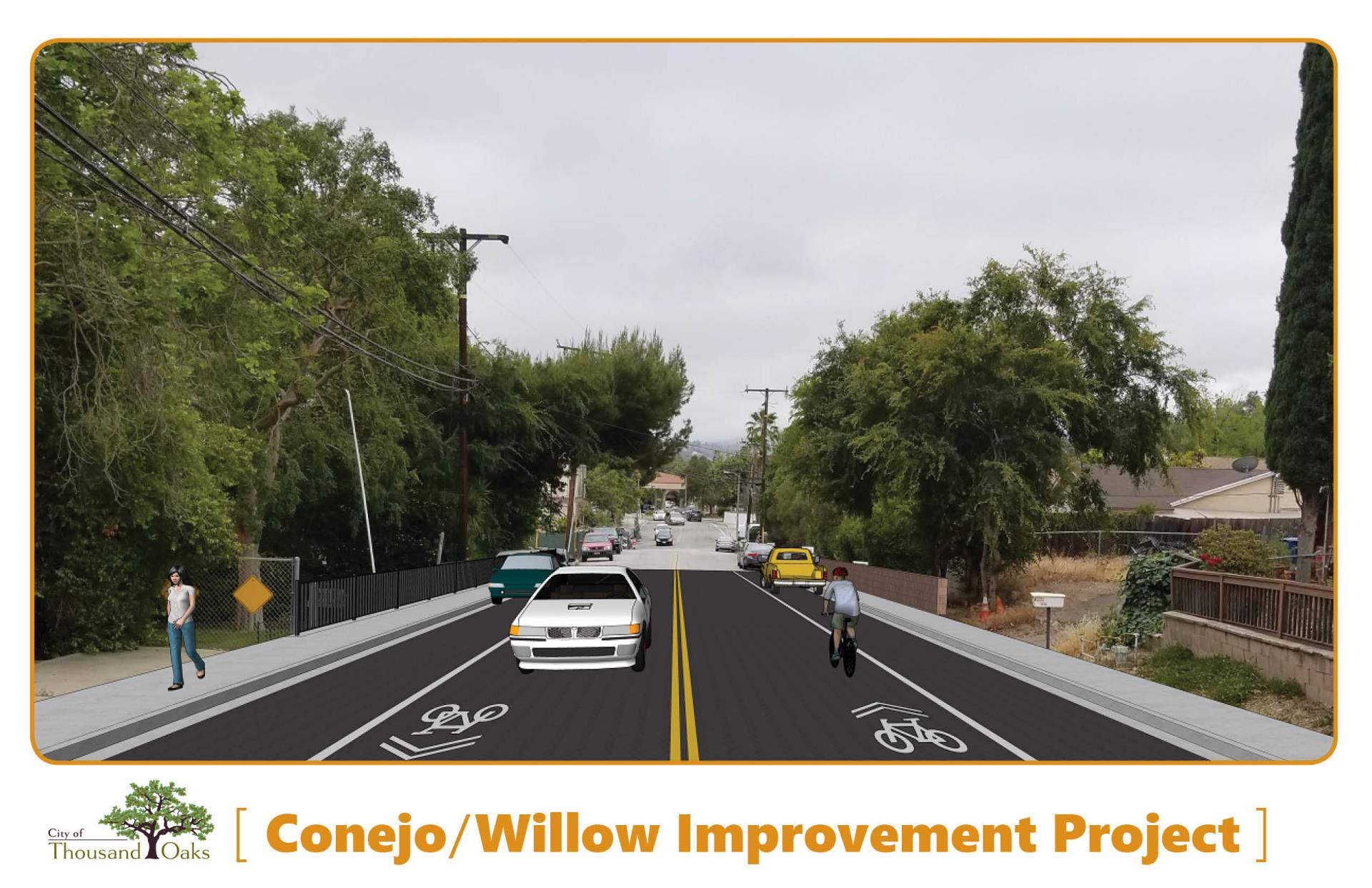 Conejo School Road and Willow Lane Sidewalk and Bike Lanes Project
