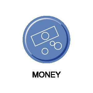 Picture of a money symbol representing the Dial-A-Ride fare