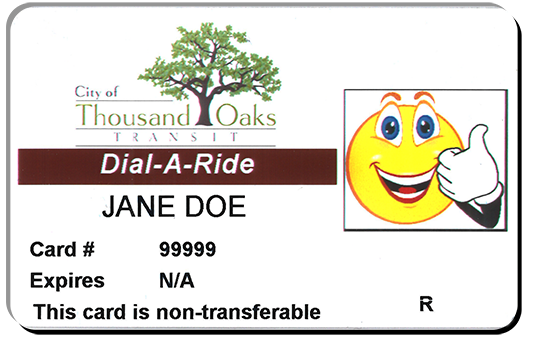 Picture of a Dial-A-Ride card