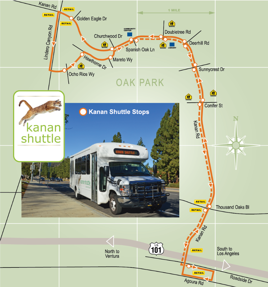 Kanan Shuttle Route Map Thumbnail