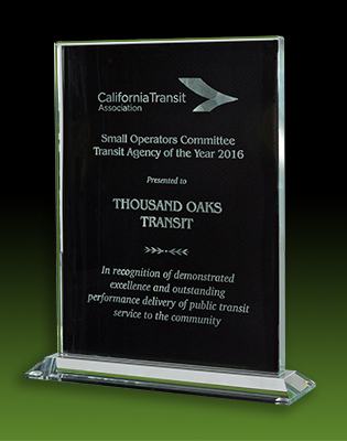 Photo of CTA Transit Agency of the Year 2016 Small Operator Award