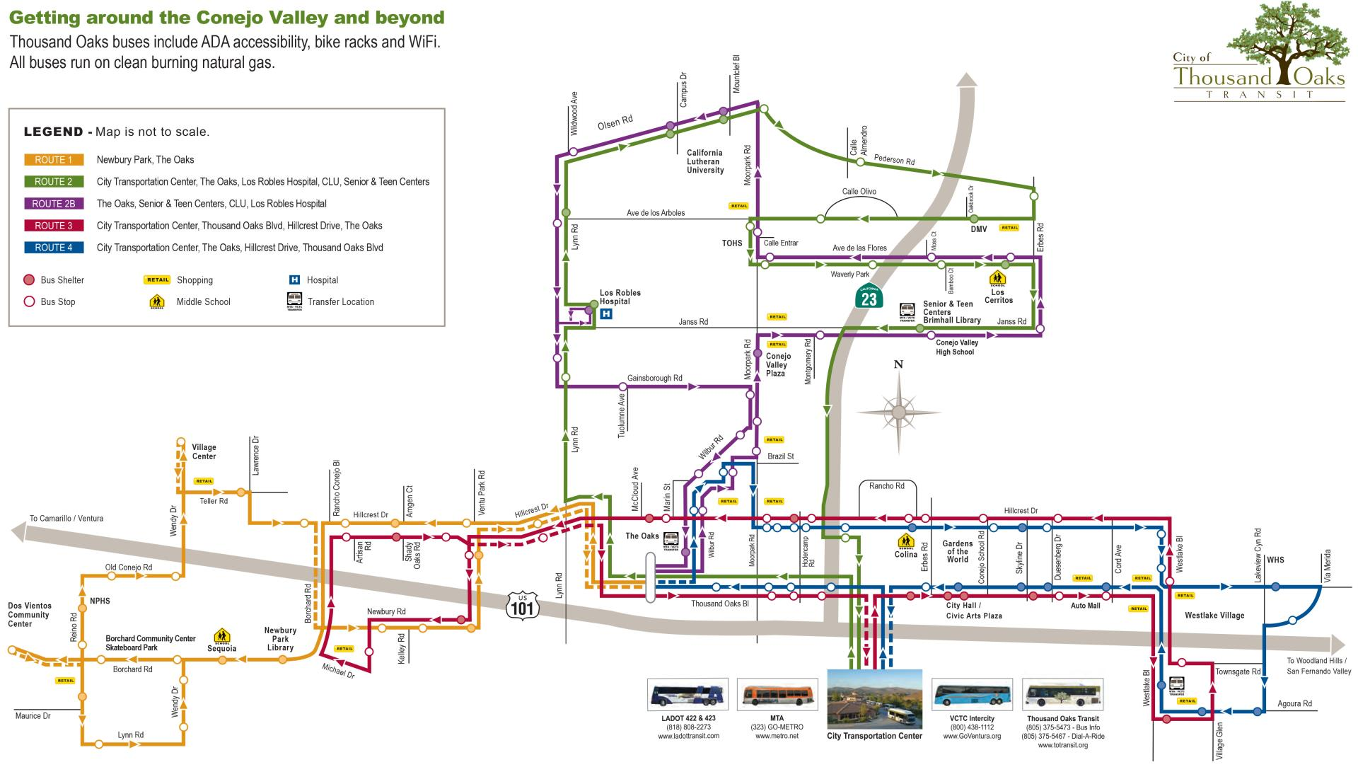 Tot_route_schedules_header Thousand Oaks Transit System Map Cover Image