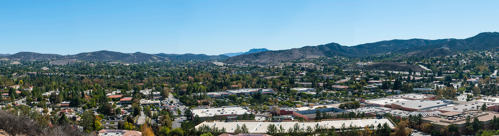 overhead view of Thousand Oaks