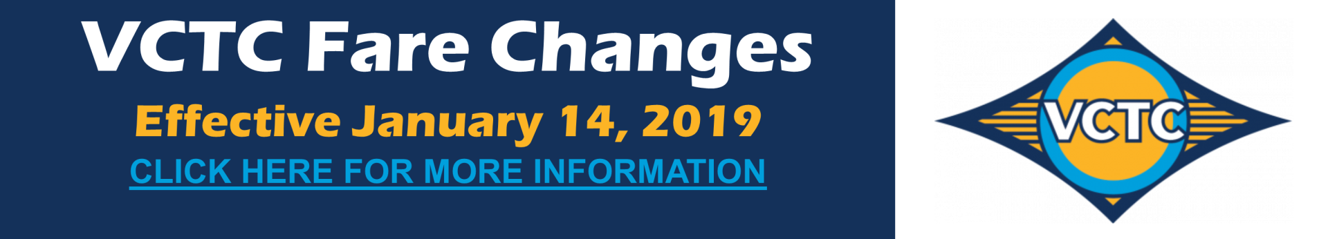VCTC Fare Changes