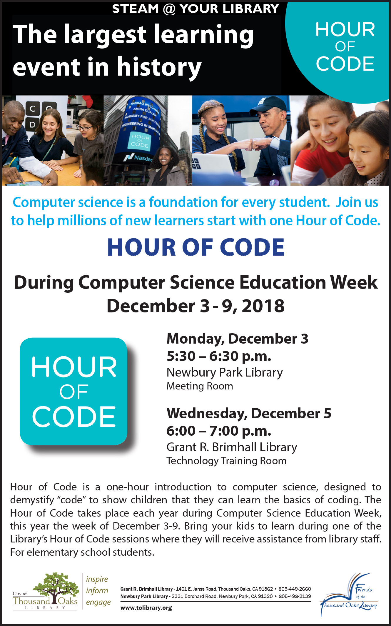 Hour Of Code - Dec 2018