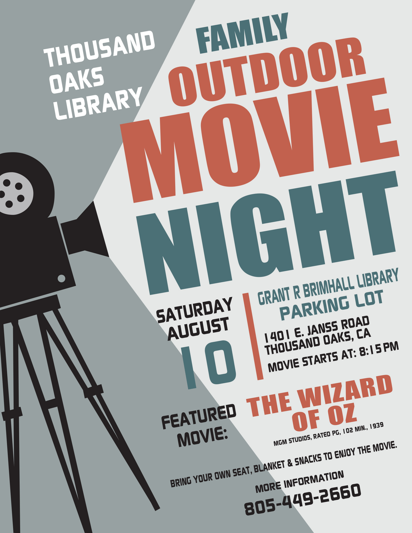 Family Outdoor Movie Night - Aug 2019