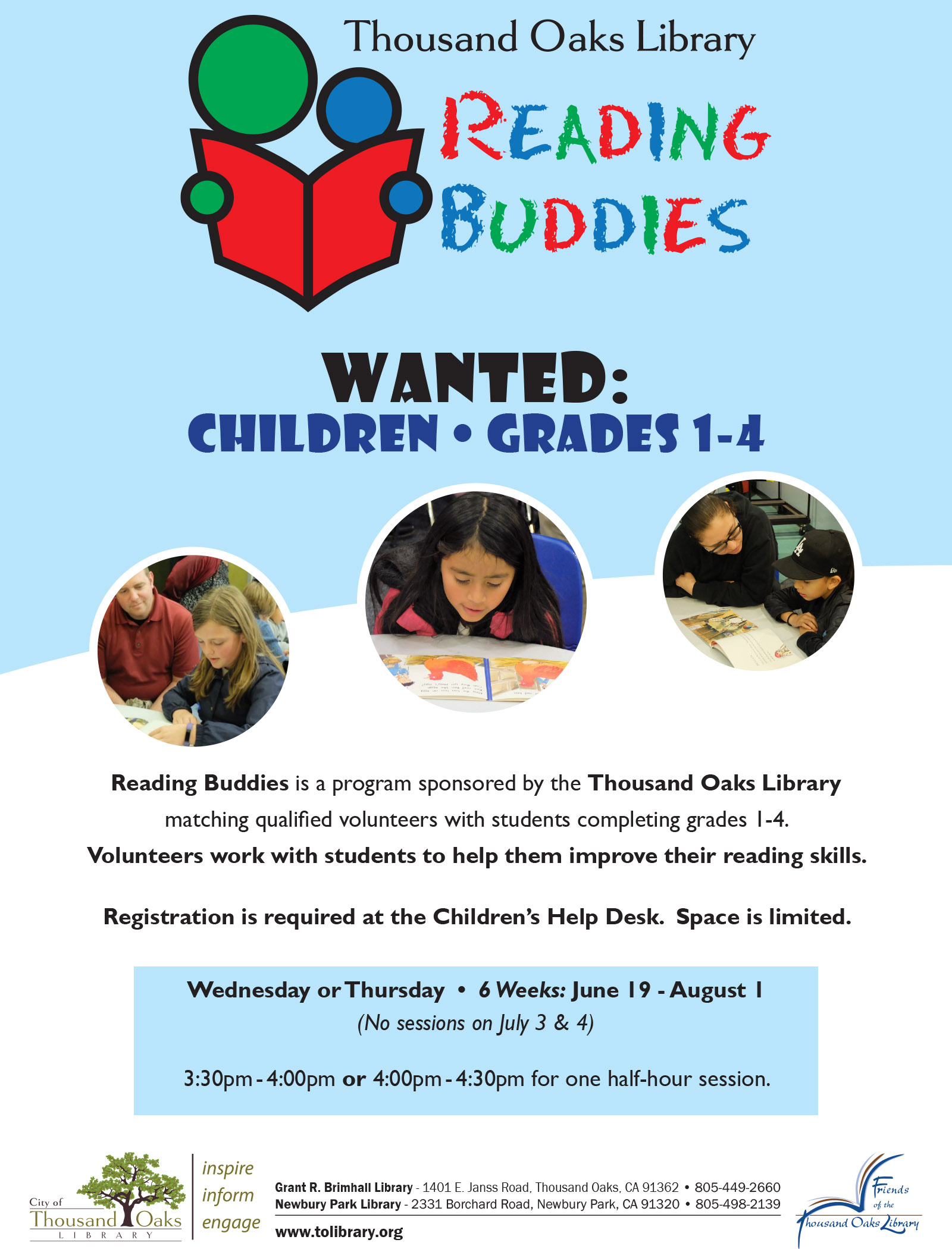 Reading Buddies-Summer 2019-English