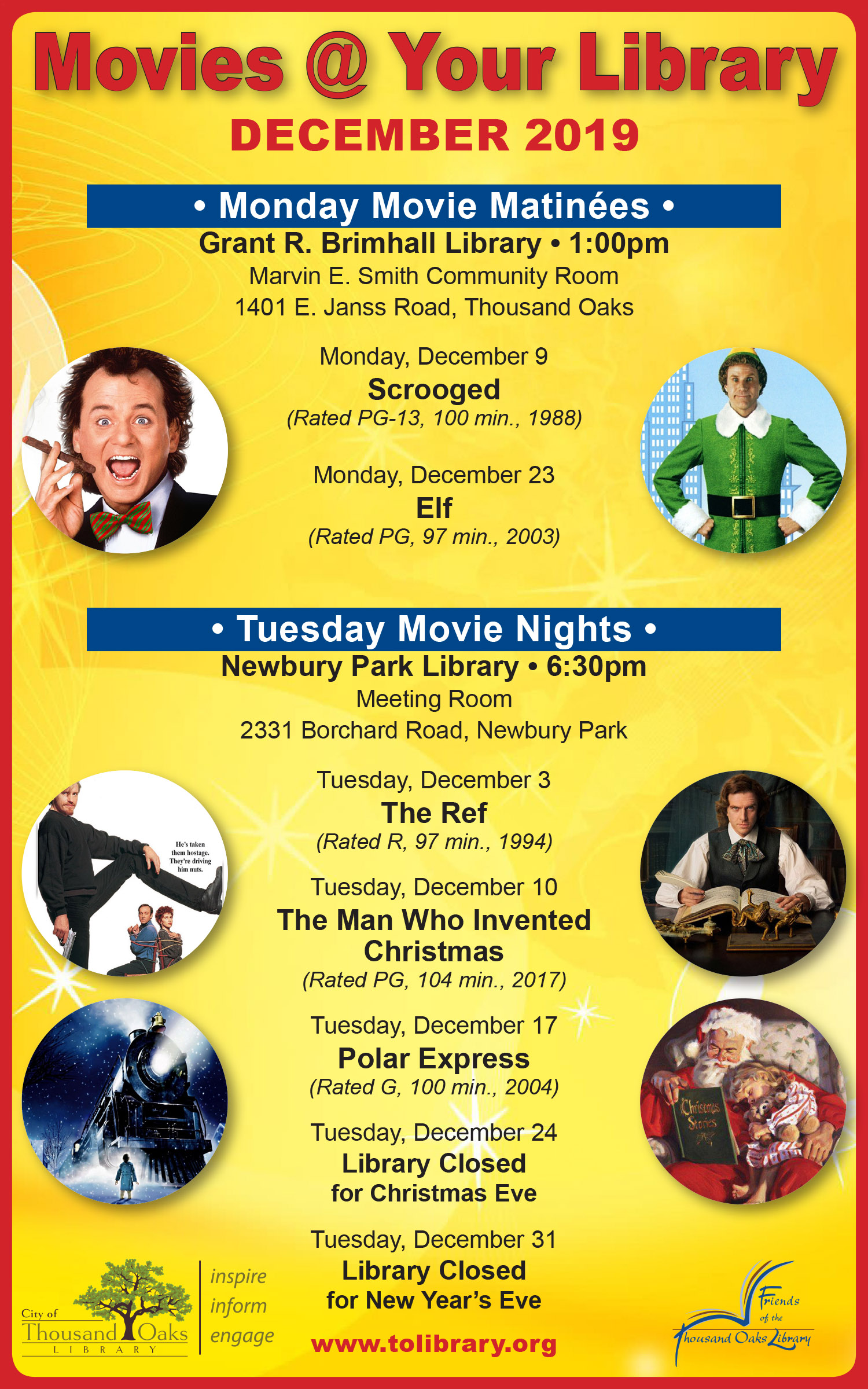 Movies @ Your Library - Dec 2019