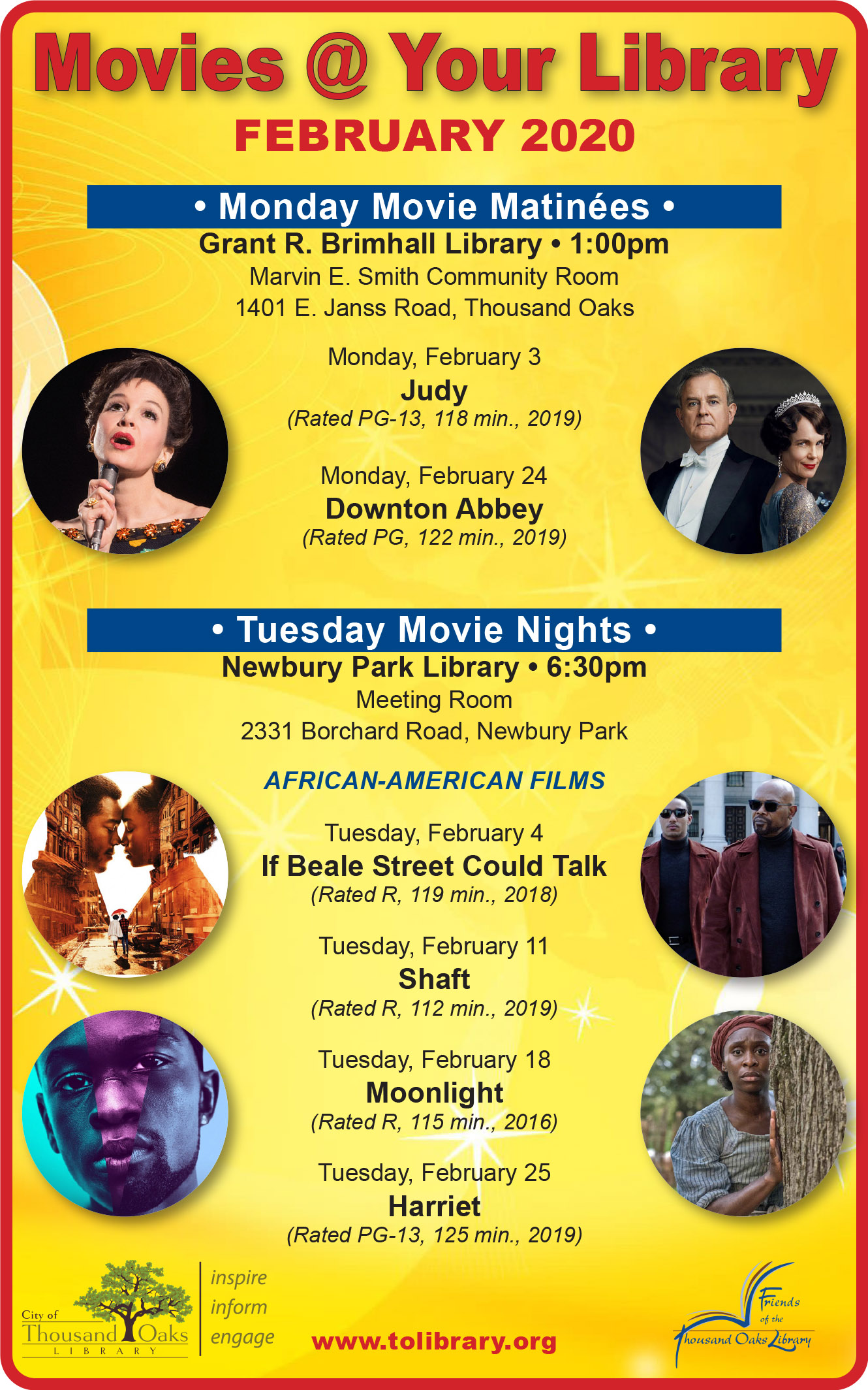 Movies @ Your Library - Feb 2020