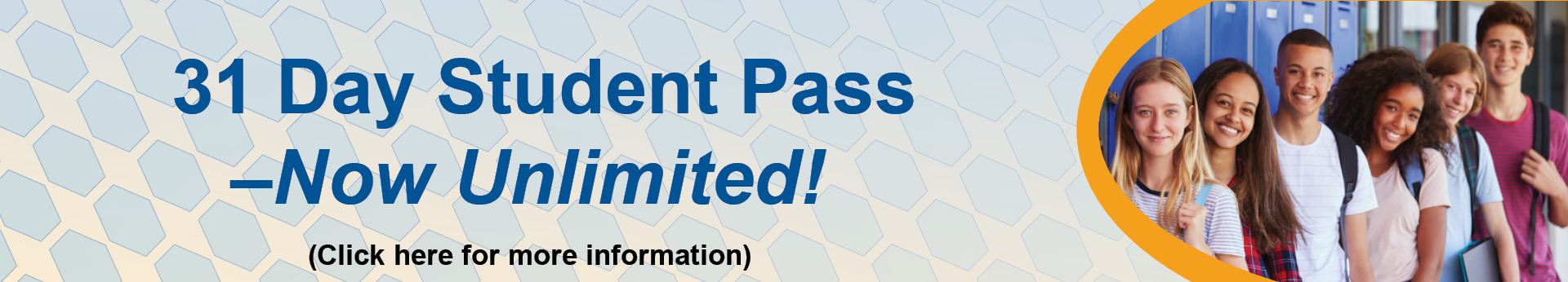 31 Day Student Pass is now unlimited. Click here for more information.