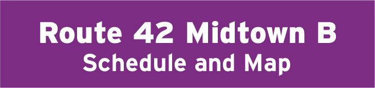 Route 42 Midtown B Schedule and Map