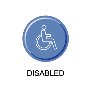 Picture of a disabled symbol representing ADA cards