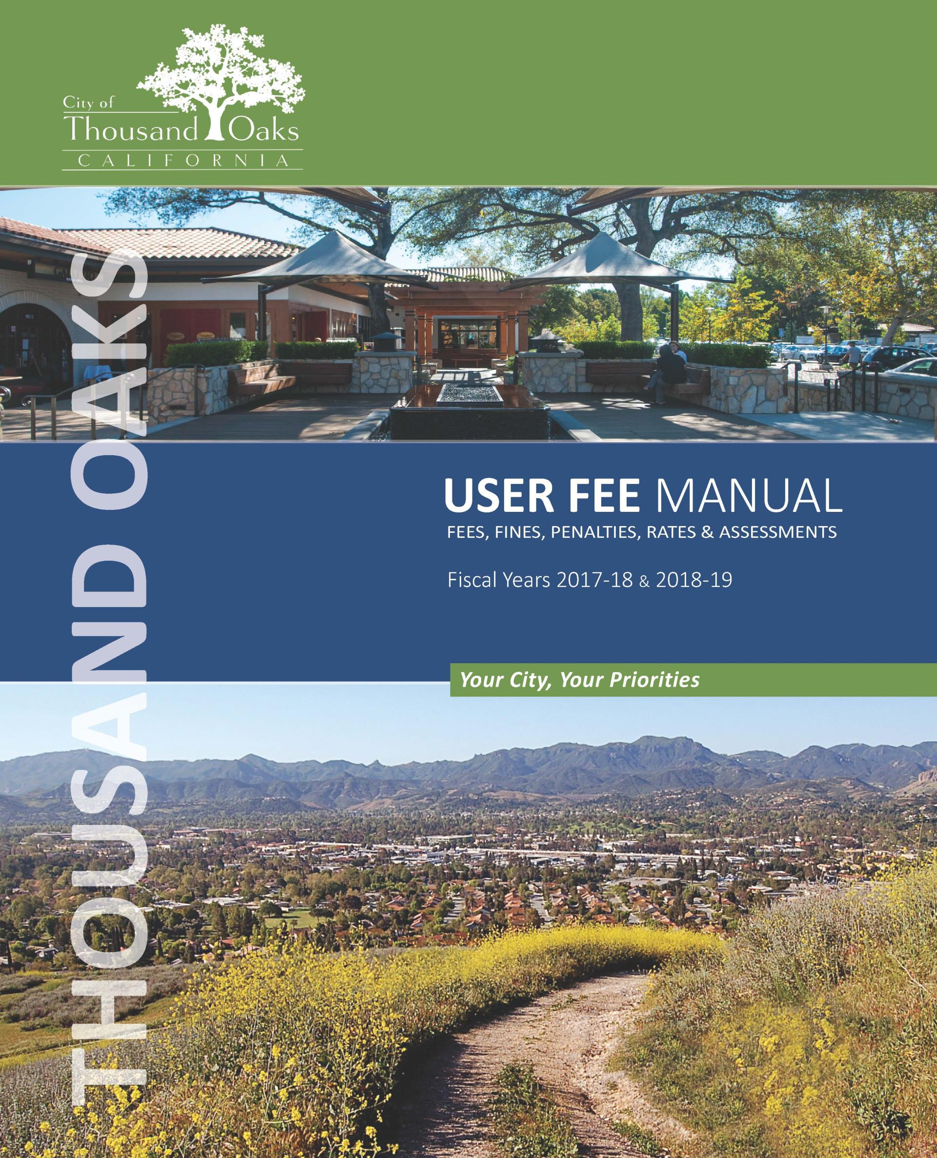 Cover User Fees for Fiscal Years 2017-18 & 2018-19