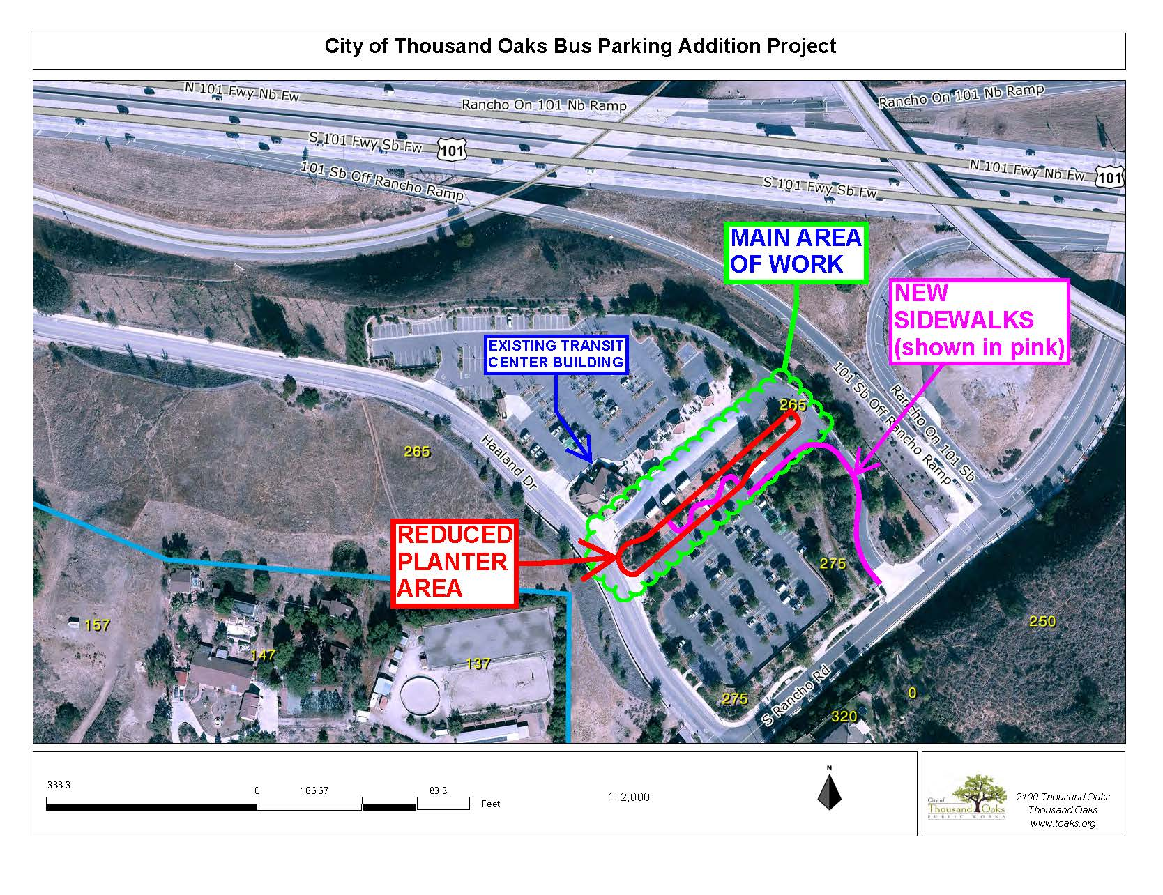 Transit Center Project Map